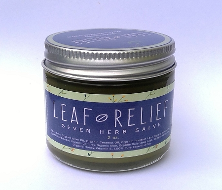 Herbal healing Salve-Leaf Relief- 2oz